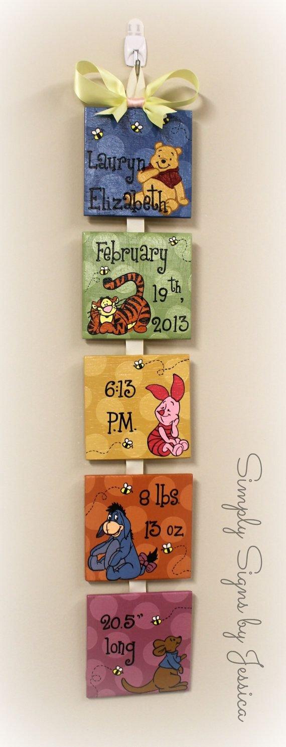 Winnie the Pooh Birth Announcement
