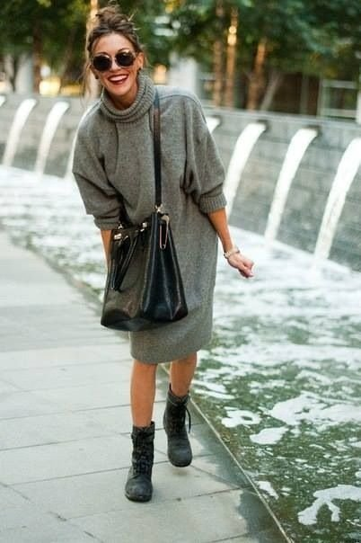 Oversize Sweater Dress - 7 Street Style Outfits from Katie Cassidy…