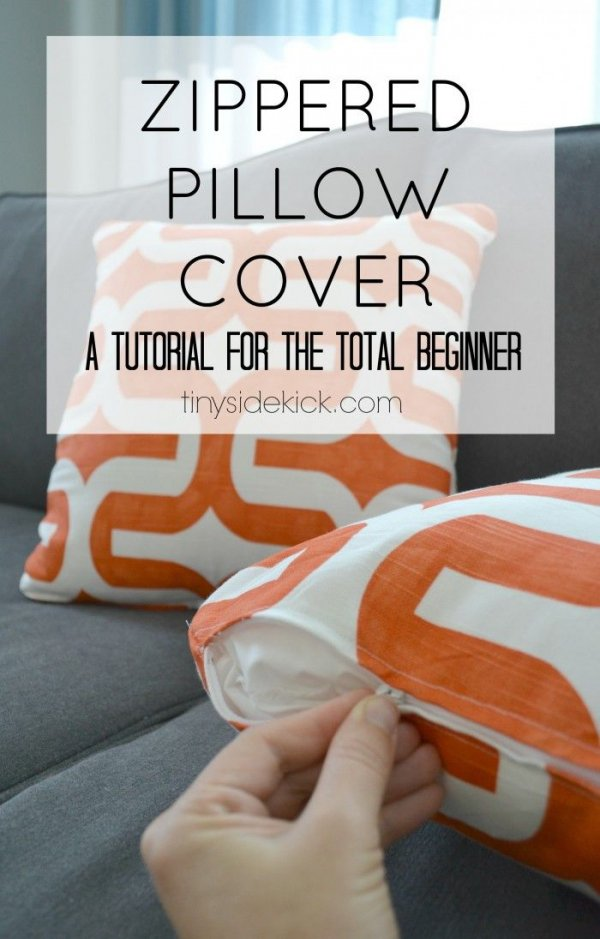 How To Make A Cute Pillow Case : How to Make a Zippered Pillow Cover - 35 Cute , Comfy , and DIY?