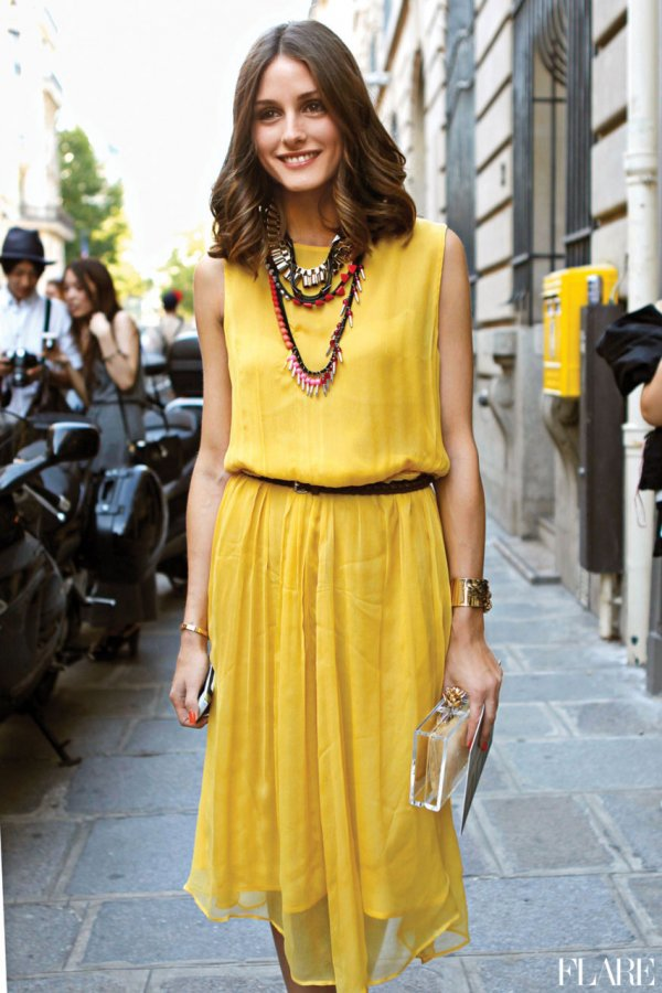 Аксессуары к желтому платью - женский интернет журнал