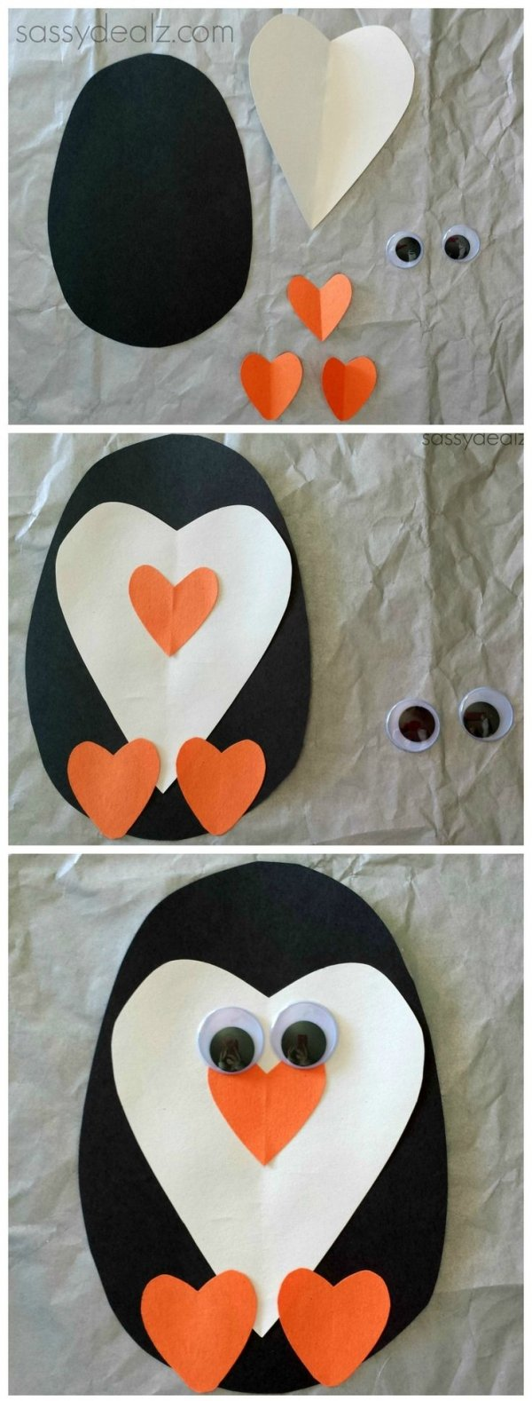 Fun valentines day crafts - 1 Paper Heart Penguin