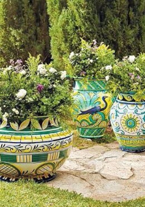 Liven up Your Outdoor Space with Bright Pots