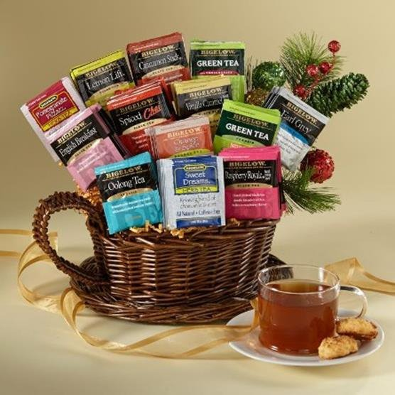 Tea gift baskets 30 50 10 christmas gift basket ideas Christmas gift ideas for cooking lovers