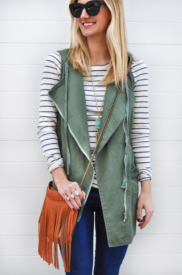 A Long Necklace Will Stand out against a Basic Tee