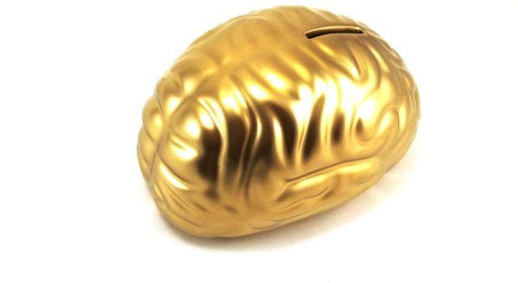 Gold Brain Money Box