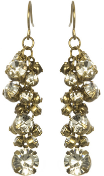 Marlyn Schiff Rhinestone Cluster Earrings
