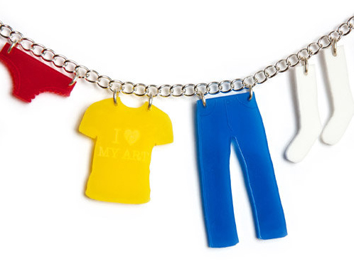 Washing Line Necklace - Cutest Ever Must-Have Piece of Perspex Jewelry