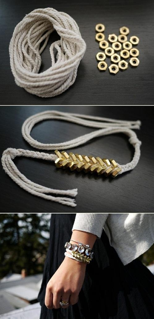 DIY Hex Nut Bracelet...