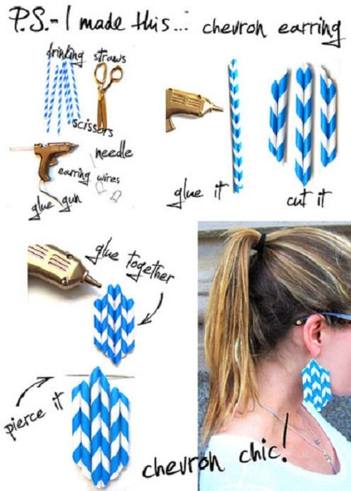 DIY Chevron Earrings...