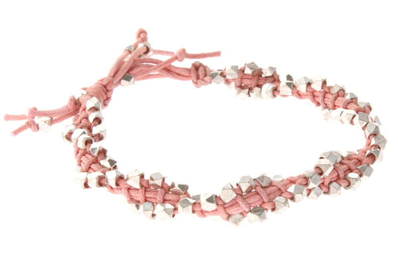 French Connection Light Pink Friendship Bracelet