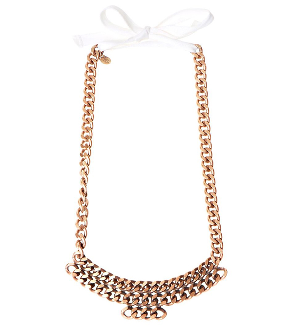 Mm6 rose gold tone chain necklace 10 stylish rose gold for Sophia kate jewelry wholesale