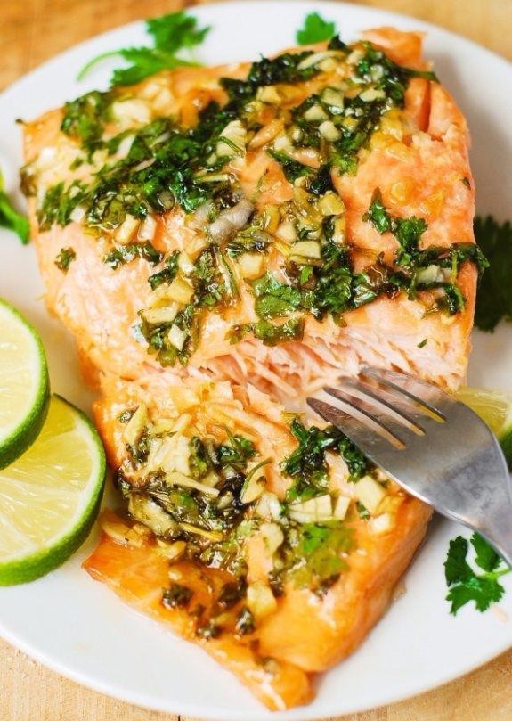 Cilantro-Lime Honey Garlic Salmon