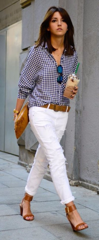 Summer Denim: Ways to Style White Jeans ... → 👗 Fashion