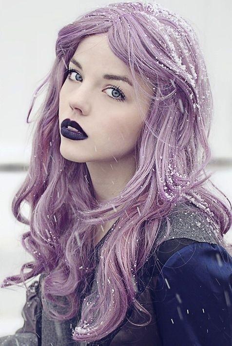 Warme Lila 43 M 228 Dchen Schaukeln Pastellfarbene Haar