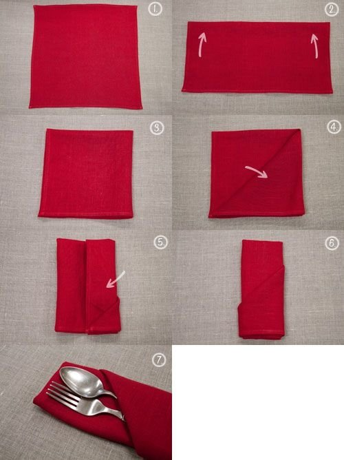 25 tutorials for how to fold napkins food for 10 easy table napkin folding