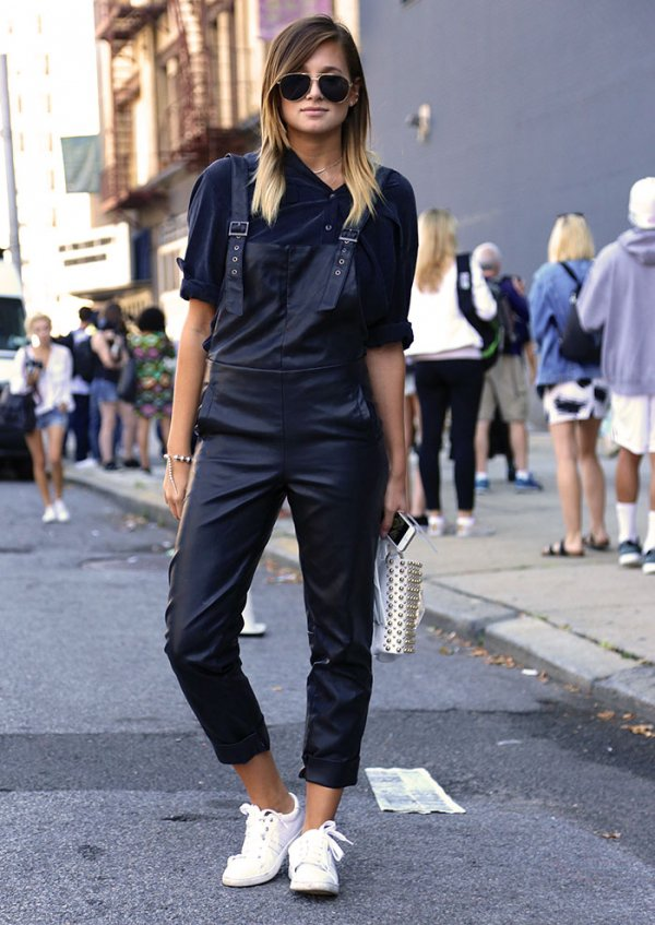 Edgy: Black Dungarees
