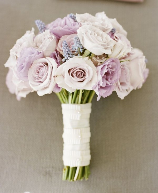Pale Pink and Lavender Rose Bouquet