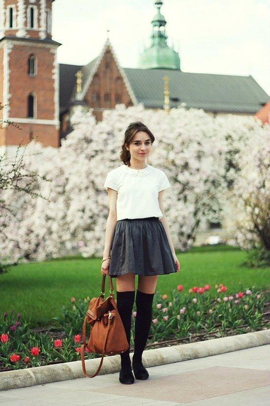 school chic 7 style ways to wear knee high