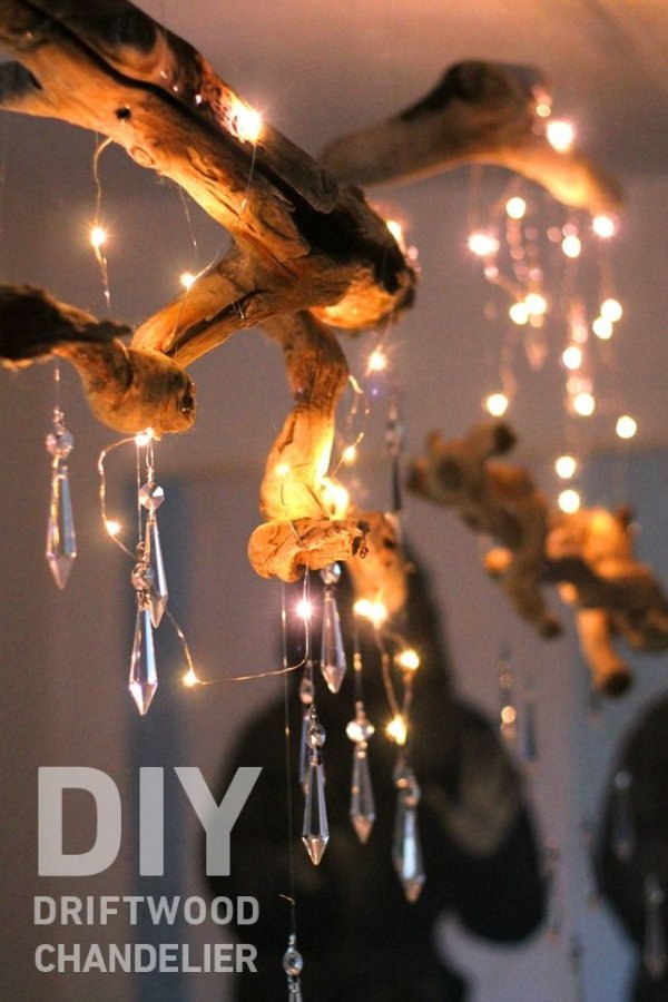 Diy Driftwood Chandelier 34 Driftwood Crafts To Give A