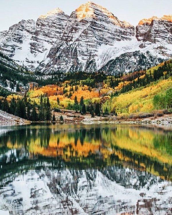 reflection, nature, wilderness, mountain, lake,