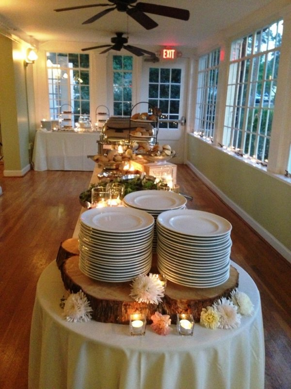 Lit Candles 20 Awesome Fall Buffet Ideas For Your Party