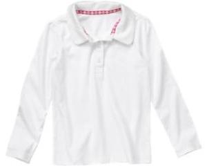 Crazy 8 uniform long sleeve polo shirt 7 cute polo for Cute polo shirts for women