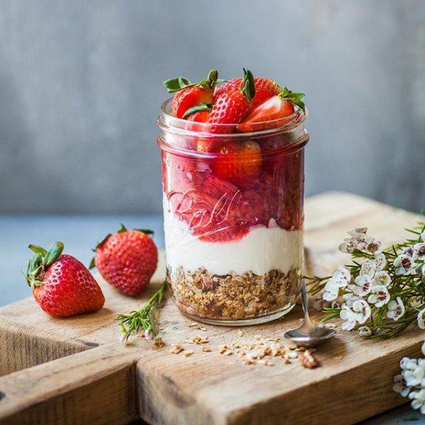 food, strawberry, strawberries, plant, breakfast,