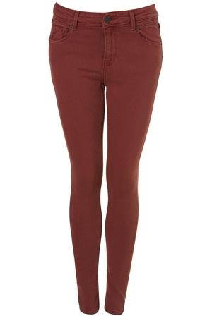 Topshop Moto Pink Skinny Jamie Jeans