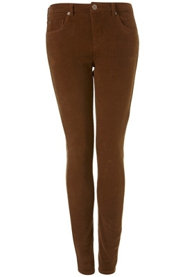 Moto Biscuit Cord Skinny Jeans