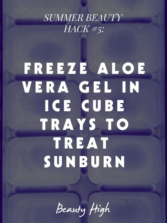 Treat a Sunburn