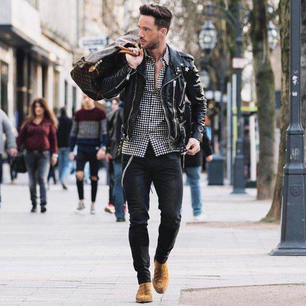 jeans, jacket, road, footwear, infrastructure,