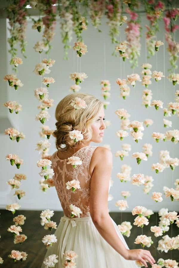 ... Carnation Flower Curtain Backdrop - 53 Wedding Arches, Arbors and