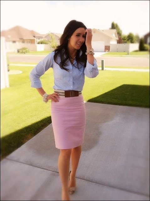 Pink Pencil Skirt - 44 Professional And Sophisticated Officeu2026