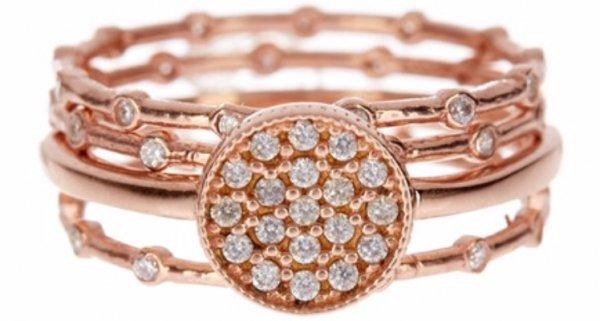 Rose Gold Circle Rings