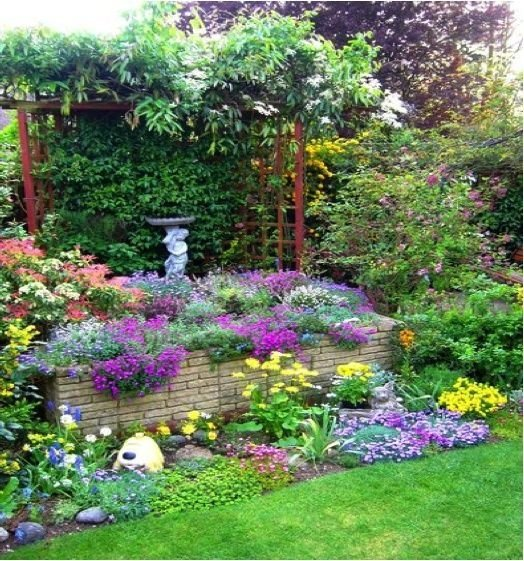Trellis 46 fun ideas for your little flower garden - Flower and lawn landscaping ideas ...