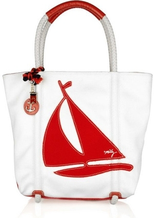 Milly Sailboat Canvas Tote