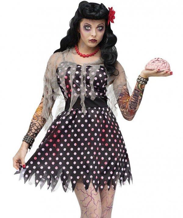 Pretty zombie makeup for women