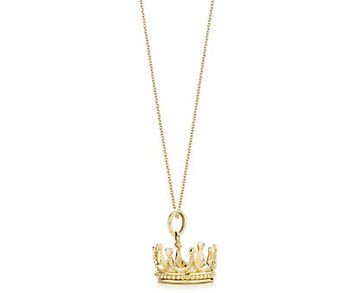 Tiffany & Co. Crown Charm and Chain