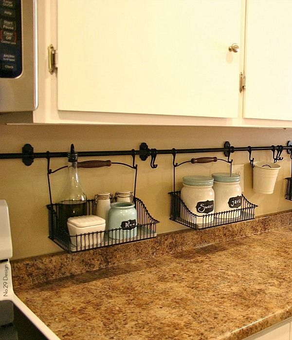 4 Rod And Hanging Baskets For Small Items 22 Kitchen