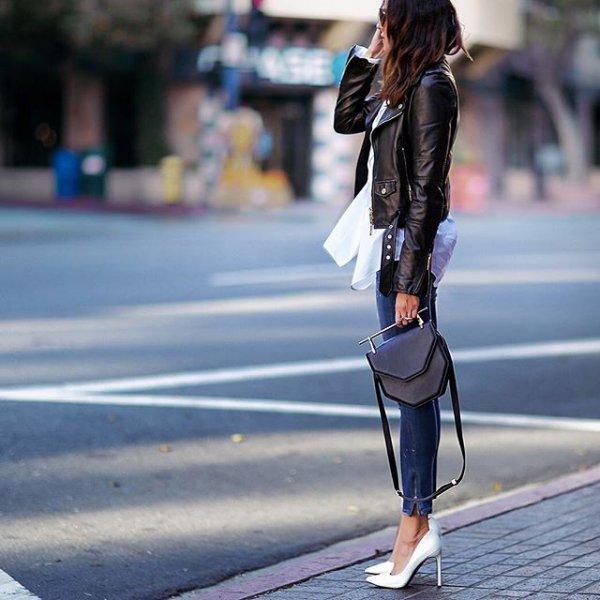 clothing, footwear, leather, jacket, spring,