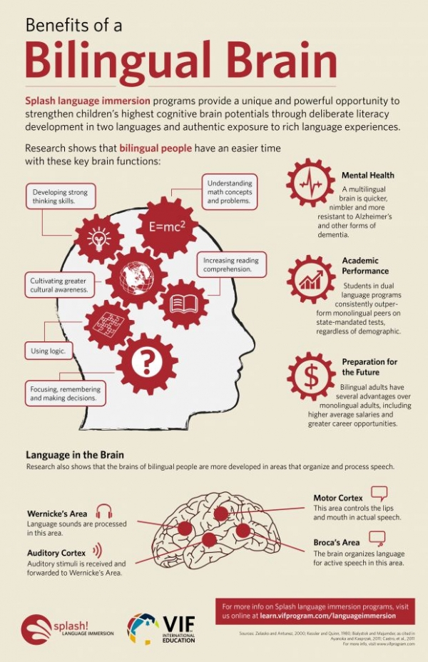 are the cognitive benefits of bilingualism restricted to language 7 bilingualism and cognitive development: three perspectives kenji hakuta, bernardo m ferdman, and rafael m diaz the problem of researching the relation between bilingualism and cognitive de.