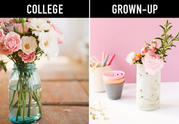 Swap Your Mason Jars for Vases
