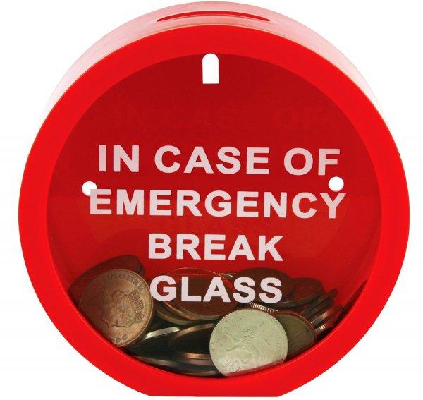 In Case of Emergency Money Box