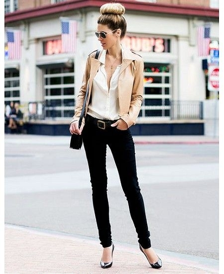 17. Skinny Jeans - 44 Professional and Sophisticated Office Outfitsu2026