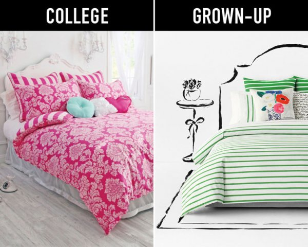 Swap Your Kiddie Bedding for Adult Bedding