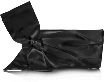 Valentino Bow Embellished Satin Clutch
