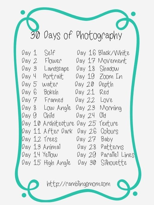 Another 30 Day Photo Challenge