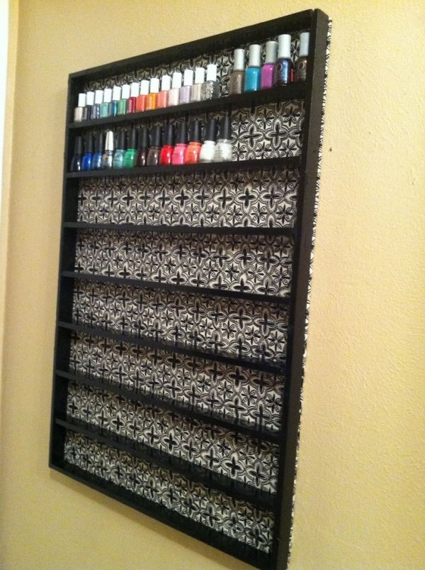 Do It Yourself Nail Polish Shelf