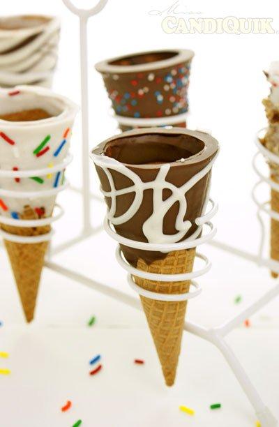 Chocolate Dipped Ice-cream Cones