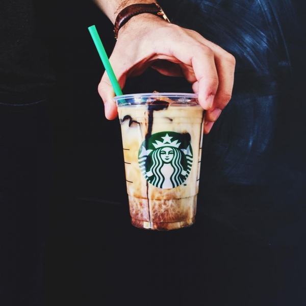 Starbucks, clothing, costume, portrait, hand,